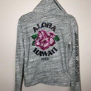 Pink Aloha Hawaii Hoodie Jacket SP